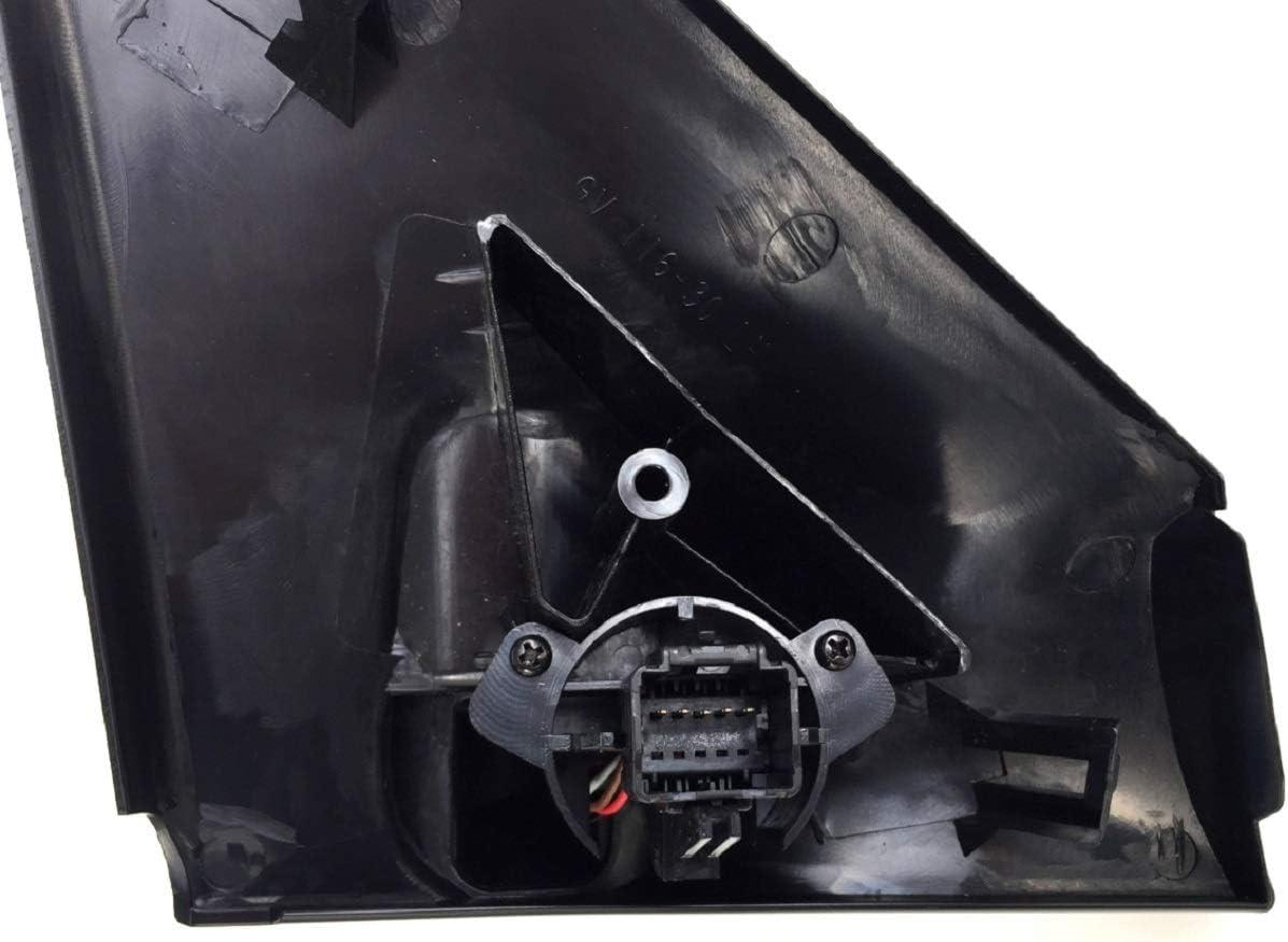 nicht elektrisch einklappbar Au/ßenspiegel links grundiert Megane 2 ll Baujahr 11//2002 bis 02//2008 elektrisch beheizbar nicht passend f/ür Cabrio Achtung