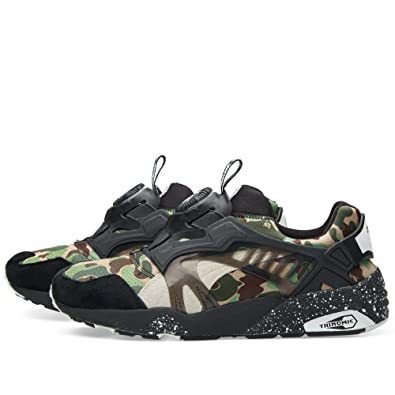 2ade1a20e2f21 Puma Disc Blaze x Bape 'Camo Green' Trainer: Amazon.co.uk: Shoes & Bags