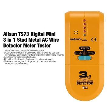 Dailyinshop Allsun TS73 Digital Mini 3 en 1 Stud Metal AC Detector medidor de medidor probador (Color: Amarillo): Amazon.es: Juguetes y juegos