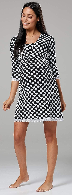 Zeta Ville Fashion Zeta Ville Damen Still-Nachthemd//Pyjama//Morgenmantel Mischen/&Kombinieren 591c