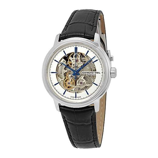 Reloj Automático Raymond Weil Maestro Skeleton, 39,5mm, 2215-ST-65001: Amazon.es: Relojes