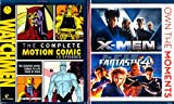 X-MEN , Fantastic 4 , Watchmen Complete Motion Comic Series : Superheroes Triple Blu-ray