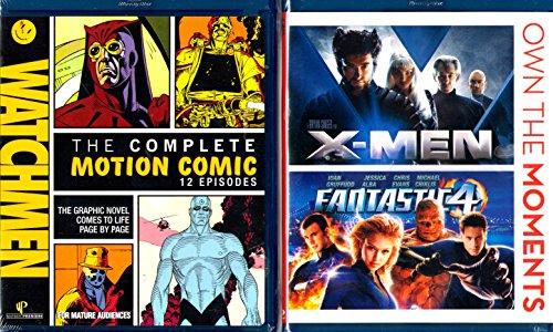 X-MEN , Fantastic 4 , Watchmen Complete Motion Comic Series : Superheroes Triple Blu-ray