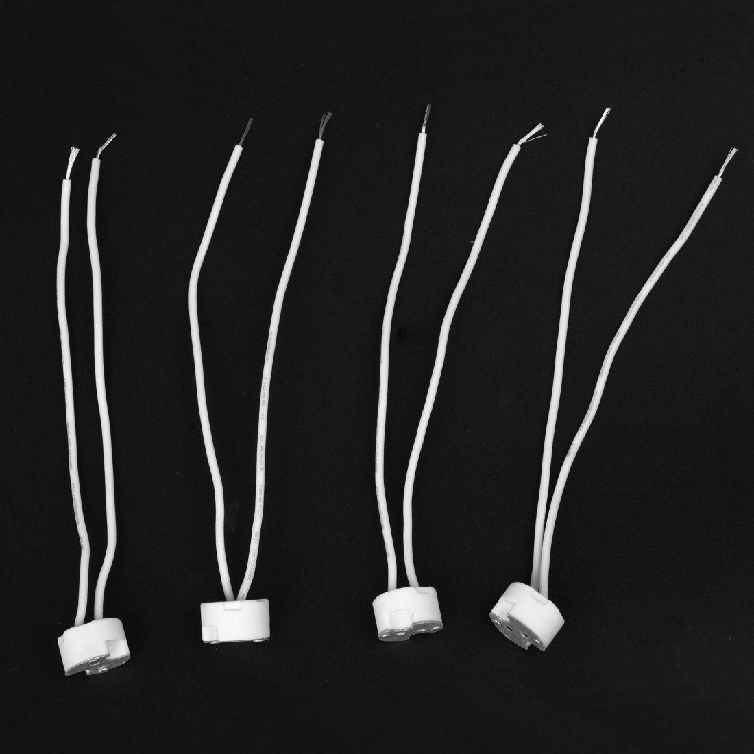 XZANTE 4pcs MR16 MR11 GU5.3 LED Zocalo de conector de Soporte de la lampara de ceramica AC 250V