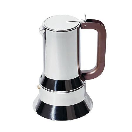 Cafetera expreso de acero inoxidable Alessi 9090/6 FM