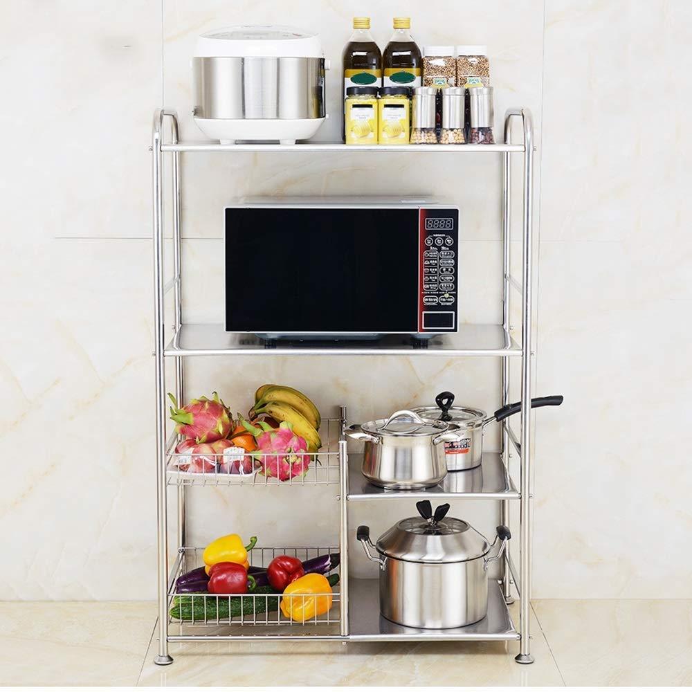 Shelf Estante de de de Cocina multifunción, Estante de microondas para Cocina, Estante de Almacenamiento en Espacio Creativo,Ancho-36cm 53d255