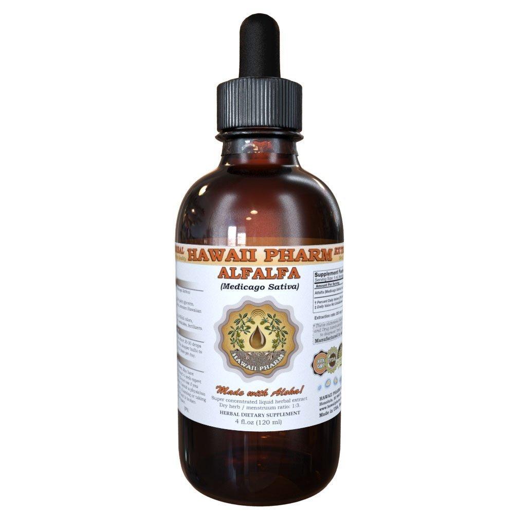 Alfalfa Liquid Extract, Organic Alfalfa (Medicago Sativa) Dried Leaf Tincture Supplement 4 oz