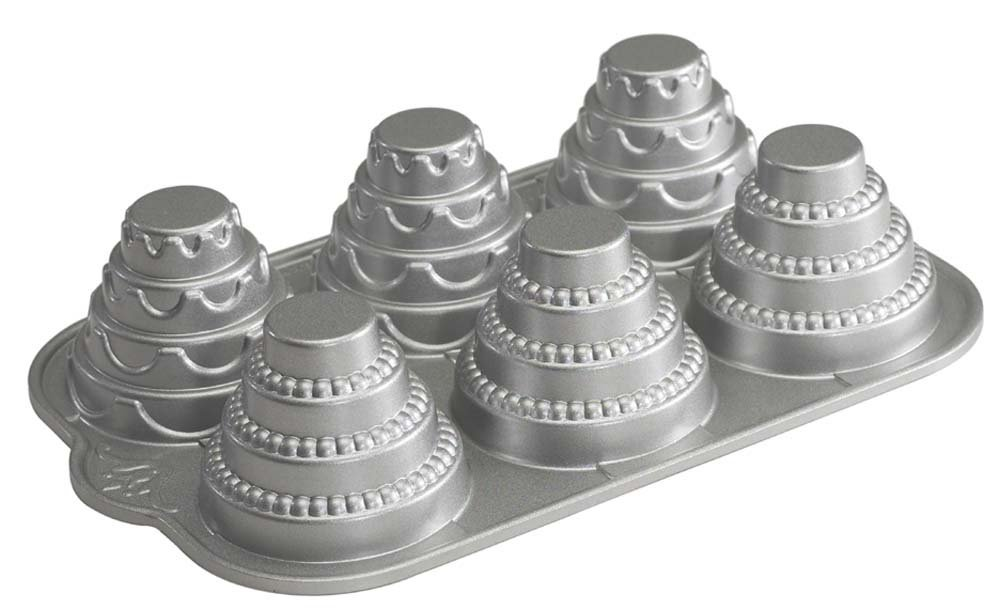 Amazon.com: Nordic Ware Platinum Celebration Tiered Cakelet Pan ...