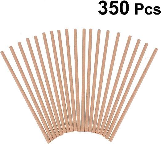 Heallily Paja de papel biodegradable 350 piezas Pajitas de papel ...