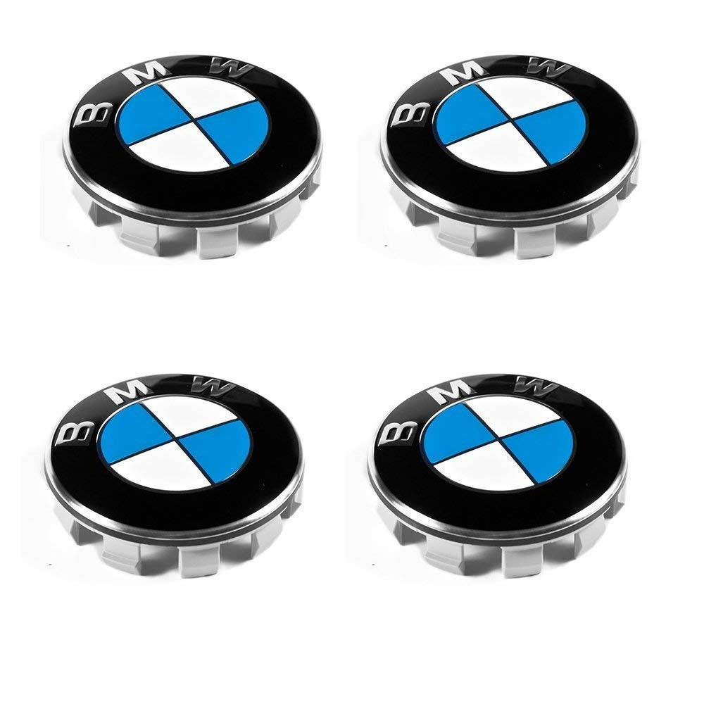 Sinbow 4 Stü ck 68mm Nabendeckel Radnaben Nabenkappen Radkappe Felgendeckel Embleme Fü r BMW