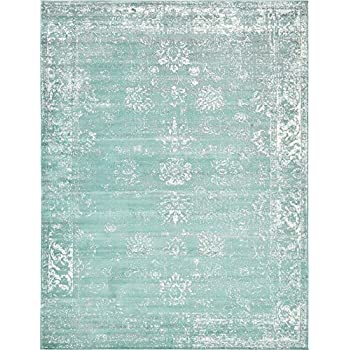 Amazon Com Turquoise 9 X 12 Ft Canterbury Rug Modern