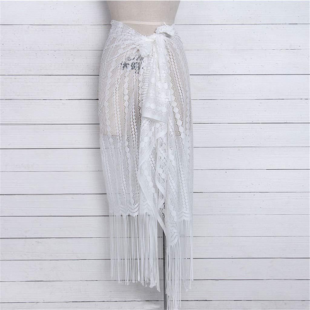 LHWY Tankini Trikini Tangas Ba/ñador de Playa Blusa de protecci/ón Solar Bikini Falda de Borla de chales de Playa