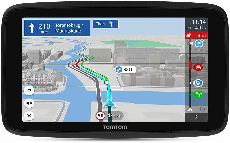 Tomtom Navigationsgerät Go Discover 6 Zoll Stauvermeidung Dank Tomtom Traffic Karten Updates Welt Schnelle Updates Via Wifi Verfügbarkeit Von Parkplätzen Kraftstoffpreise Navigation