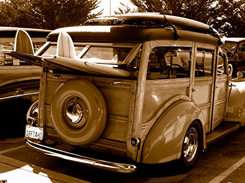 Woody Surf Wagon Fine Art Photo Surfing by
