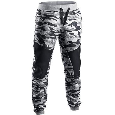 38cc8823f5b88 Cebbay Homme Pantalon Jogging Bas de Survêtement Sweat Pants Sport Slim Fit  Liquidation(Gris,