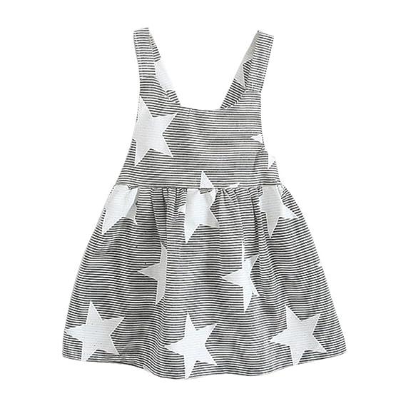 Btruely Herren Vestido para Bebés, Ropa Bebé Niñas Vestido Princesa Niña Vestido de sin mangas