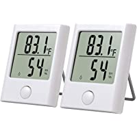 Neoteck 2 st minitermometer och hygrometer exakt inomhus utomhus digital temperatur fuktighetsmätare mätare mätare med…