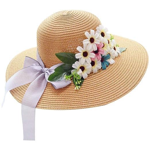 327593754ac Amazon.com: chuwa Womens Summer Straw Weave Sun Visor Beach Hat ...