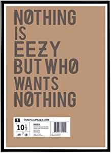 Rob'sTees Nothing is Eazy Sneaker Poster, Hype Poster, Kicks Poster, Pop Culture Sneaker Art Wall Decor Streetwear Art Posters (Frame NOT Included) (12x18)