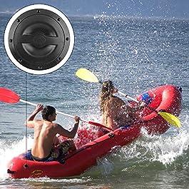 BOINN Plaque de Pont de Trappe de Kayak de 6 Pouces Kit de Plaque de Pont de Couverture de Trappe Marine avec Sac de…