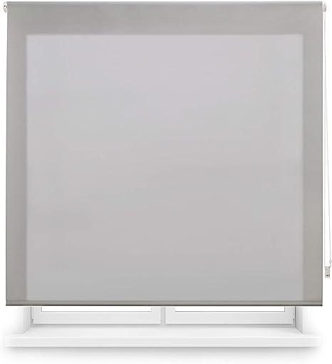 Oferta amazon: Blindecor Ara - Estor enrollable translúcido liso, Gris Plata, 160 x 175 cm (ancho x alto) Talla 160 X 175 cm