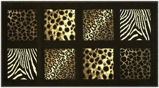 Animal Prints Door Mat 2 Ft. X 3 Ft. 8 In. Chocolate Design 251