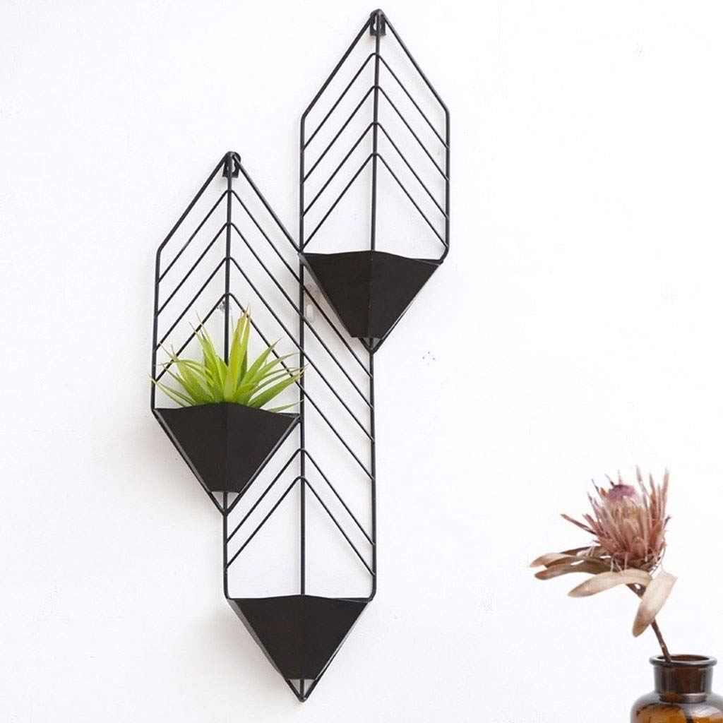 PingFanMi Wall-Mounted Three-Layer Hanging Orchid Frame, Indoor Wall Wrought Iron Wall Hanging Multi-Layer Hanging Decorative Pendant, Metal Storage Shelf, Most Suitable for Flowers or Potted Plants by PingFanMi