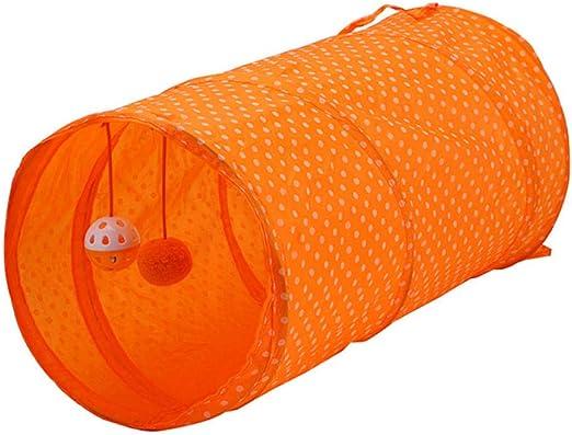 Gulunmun Túneles para Gatos Artículos para Gatos Tubos Y Túneles para Animales Pequeños Nuevo Gato Túnel Plegable 2 Agujeros con Campanas Gatito Juguete Túnel De Conejo Gato Cueva Gato: Amazon.es: Productos para