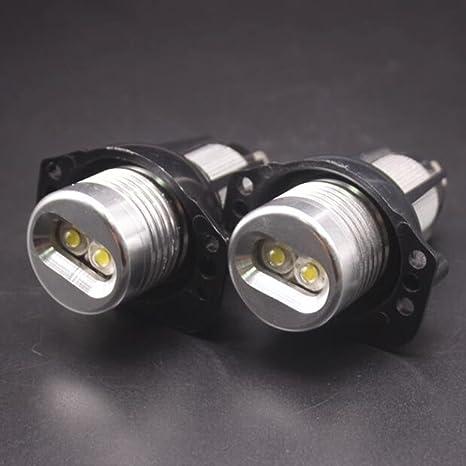 Wkae DC 12-24V 6W 800LM - Bombilla LED de 2 ojos de ángel para BMW E90/E91, 2 unidades: Amazon.es: Iluminación