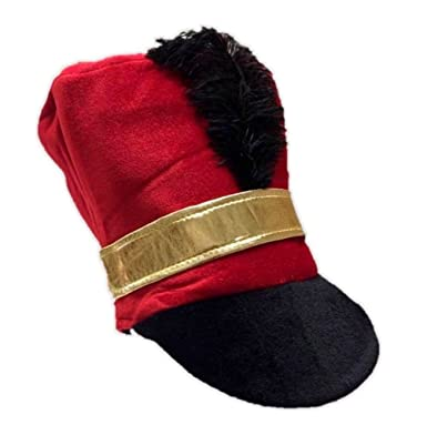 RED MAJORETTE HAT MARCHING BAND TOY SOLDIER CHRISTMAS FANCY DRESS COSTUME