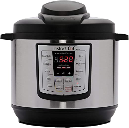 Amazon Com Instant Pot Lux 6 In 1 Electric Pressure Cooker Sterilizer Slow Cooker Rice Cooker Steamer Saute And Warmer 8 Quart 12 One Touch Programs Kitchen Dining