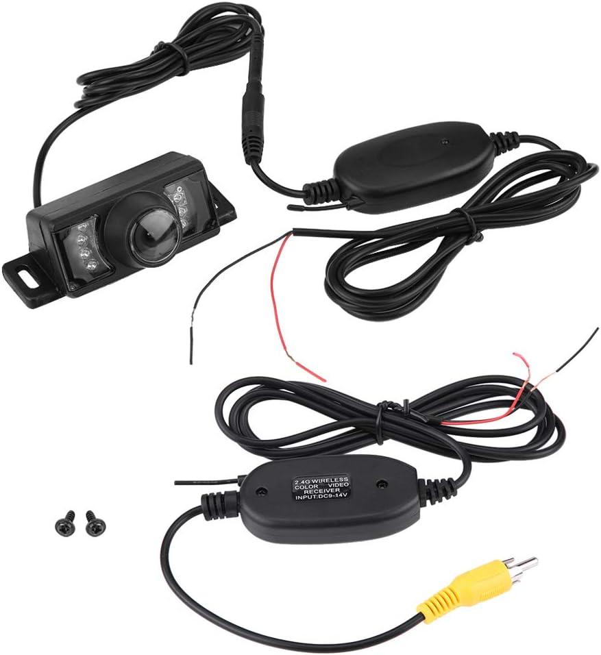 Dibiao Car Reverse Camera,7pcs IR LED Night Version Car Reverse Backup Camera Wireless Video Transmitter Receiver