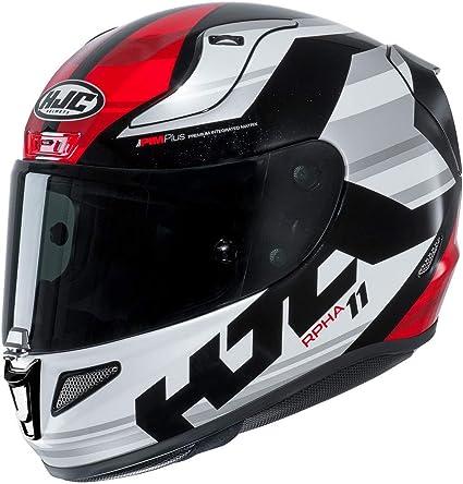 Amazon.es: Casco de moto HJC RPHA 11 NAXOS MC1, Negro/Blanco/Rojo, XS