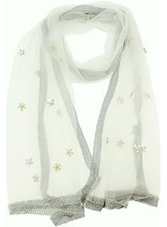ff14d0bb498b8 Boutique-Magique étole mariage femme blanche avec fleurs - étole blanche  cérémonie