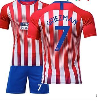 huge discount 5903d 38deb LISIMKE Atletico Madrid Soccer Team Griezmann Kid Youth Replica Jersey Kit  : Jersey & Shorts & Socks