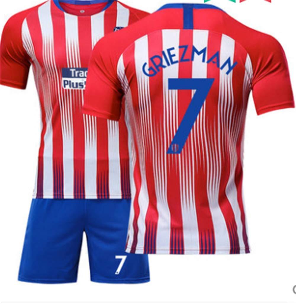 LISIMKE France Home Soccer Team Griezmann #7 Kid Youth Replica Jersey Kit Jersey /& Shorts /& Socks Bag