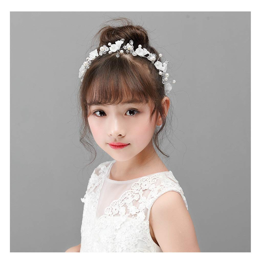 Wreath Flower Children's Hair Accessories Princess Hairpin Headband Handmade Flower Girl Dress Accessories