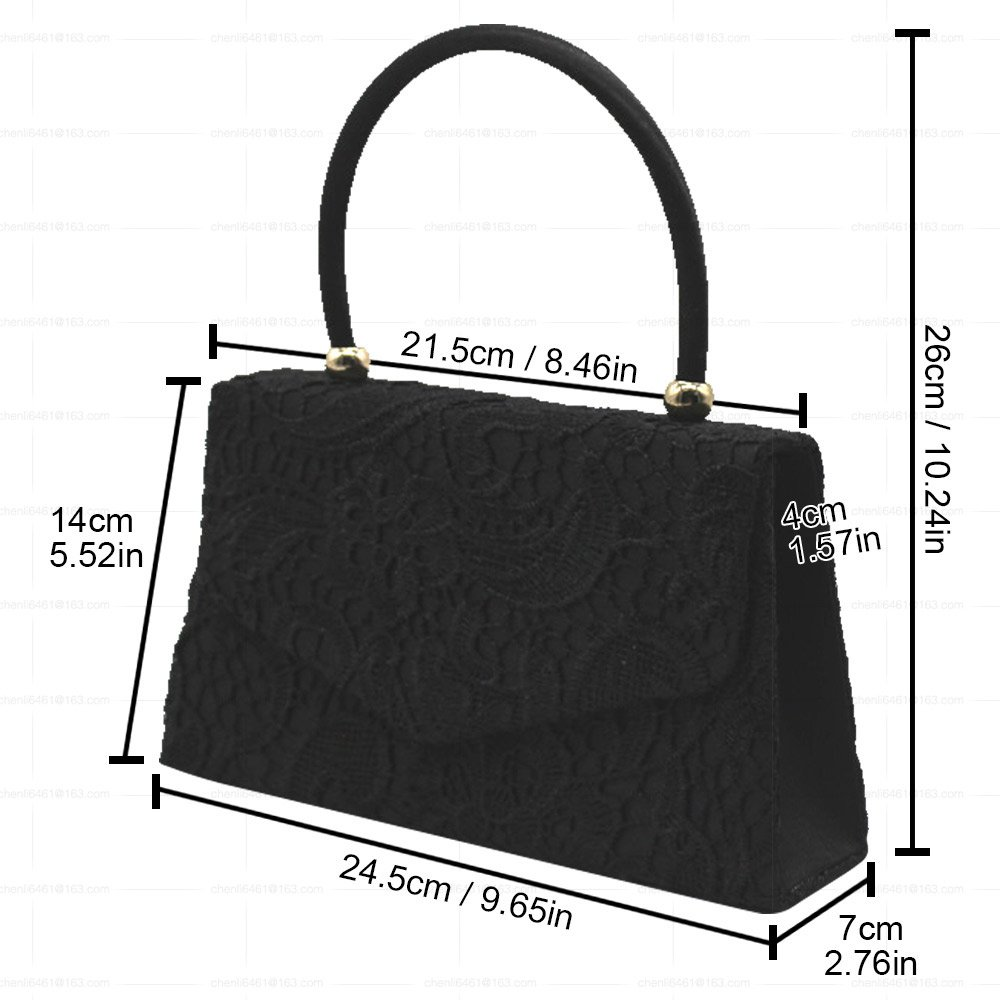 c8a466b7adf Wocharm Womens Top Handle Designer Handbags Clothing Shoes Accessories Lace  Overlay Evening Clutch Bag Handbag Wedding Prom Bag