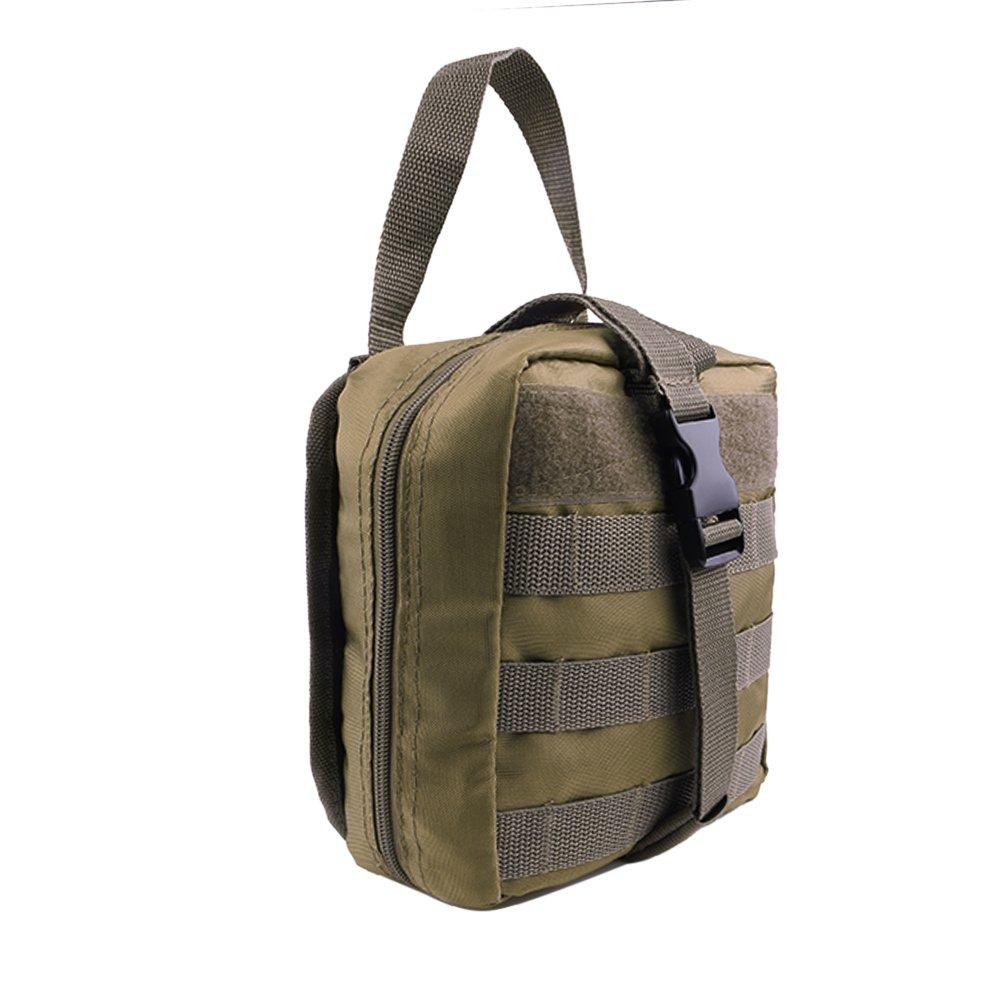 Tactical molle per primo soccorso Emt Medical marsupio Edc Military First Aid Ifak Utility borsa per outdoor Wilderness camping hiking (solo sacchetto), Black JUNDONG