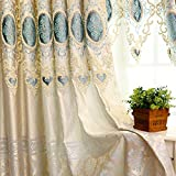 MZPRIDE Elegant Pure Handmade Embroidered Sheer Curtains Paisley Tulle Curtains For Windows For Sale