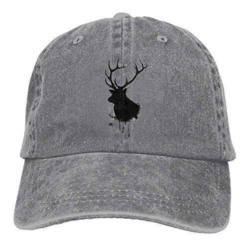 Baseball Cap Elk Ink - Adjustable Trucker Hat Cotton Denim, DanLive Elk Ink ()