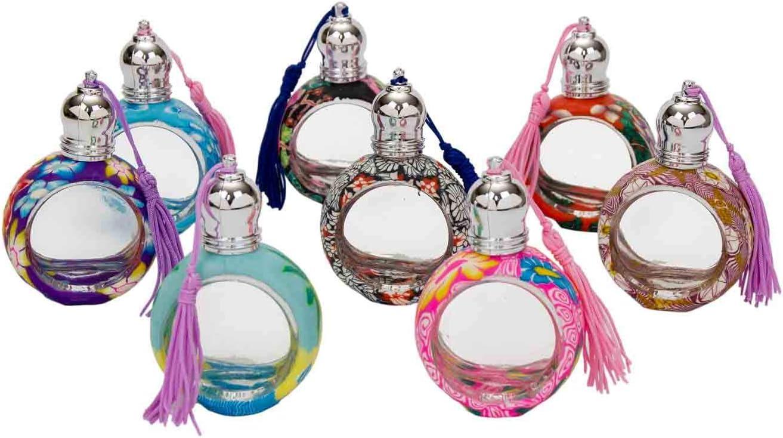 Lote de 20 Botes Cristal con Borla para Perfumes