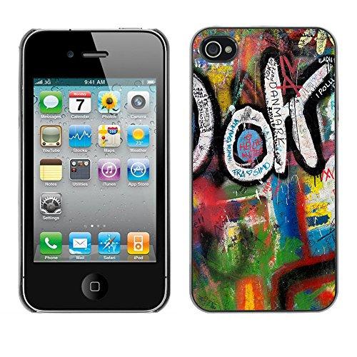 Premio Sottile Slim Cassa Custodia Case Cover Shell // V00002347 Graffiti // Apple iPhone 4 4S 4G