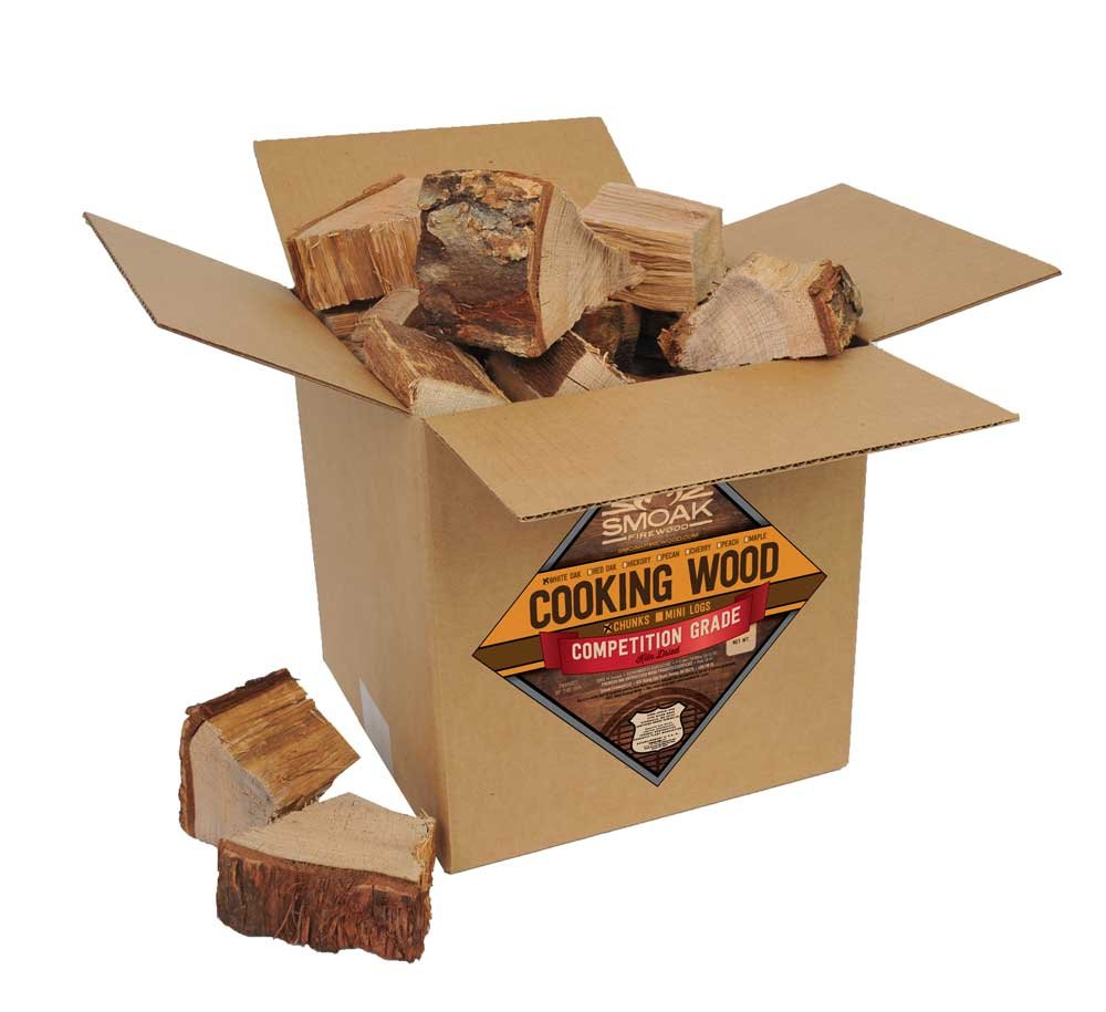 Smoak Firewood Cooking Wood Chunks - USDA Certified Kiln Dried (White Oak, 25-30 lbs)