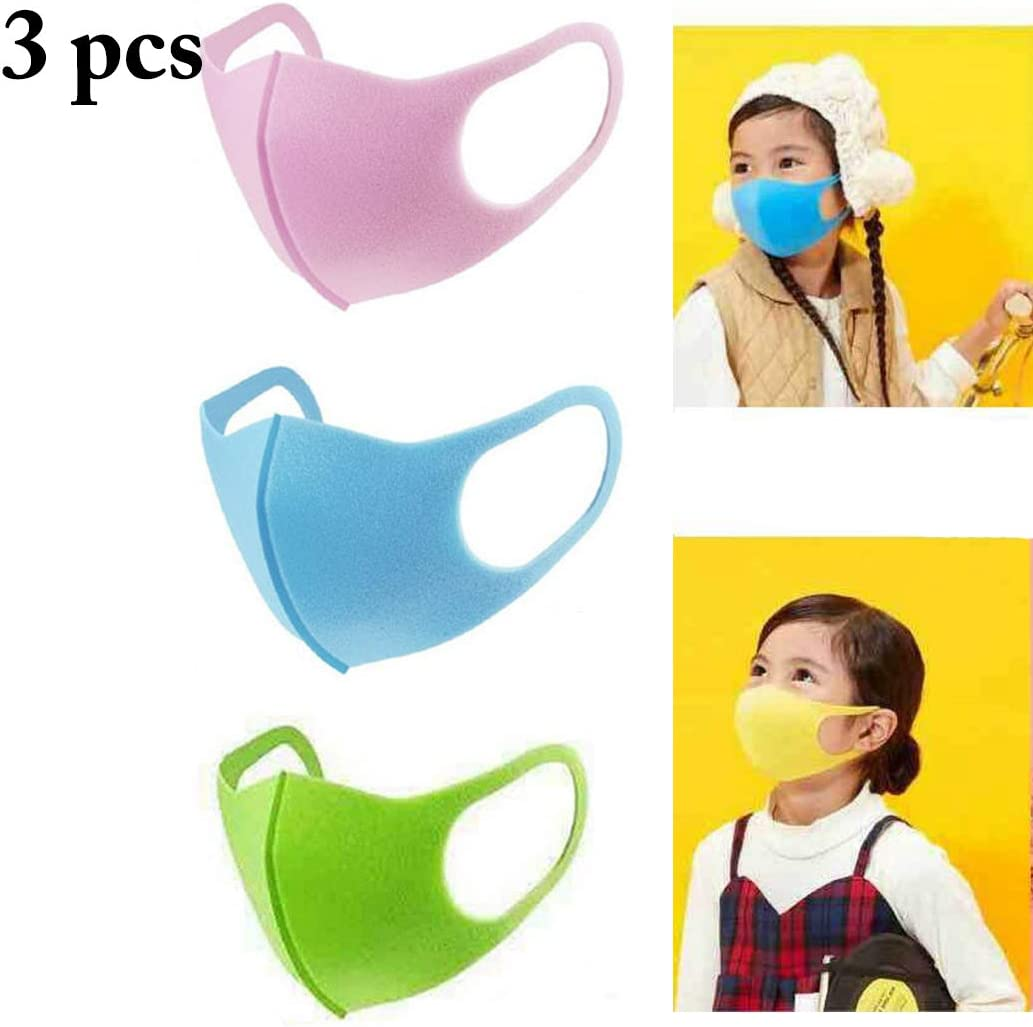 FunPa 3PCS Kids Mouth Mask PM2.5 Mascarilla bucal Lavable a Prueba de Polvo Mascarilla Facial