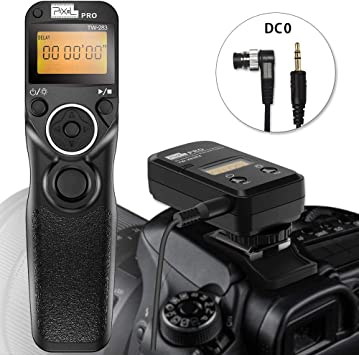 ENEGON Wireless Remote Shutter Release Control Timer with Cord for Nikon D7000 D7100 D7200 D5100 D3100 D750 D850 D810 D700 D500 D3 D4 D5 D4s N90s and More Nikon Cameras