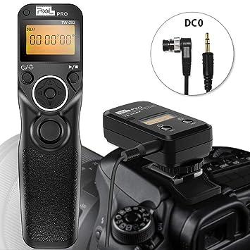 Pixel Wireless Shutter Release Cord Wired Timer Remote Control Cable TW-283  DC0 For Nikon D850 D800 D810 D700 D300 D300S D200 D100 D1 D2 D3 D4