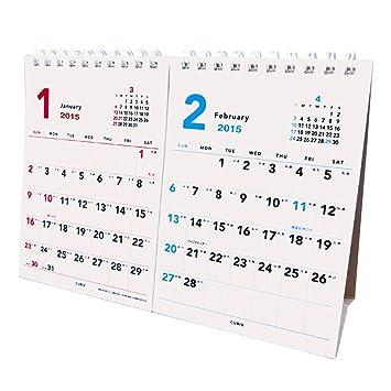 amazon キュービックス 2015 カレンダー ベーシックa a5卓上2ヶ月