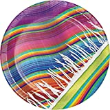 Creative Converting 322290 96 Count Sturdy Style Dinner/Large Paper Plates, Serape