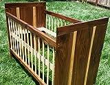 Modern Walnut Crib